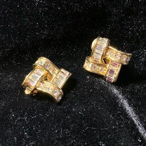 Vintage 80s Roma brand clip on earrings